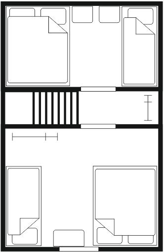 Rzut domku i rozkład pomieszczeń